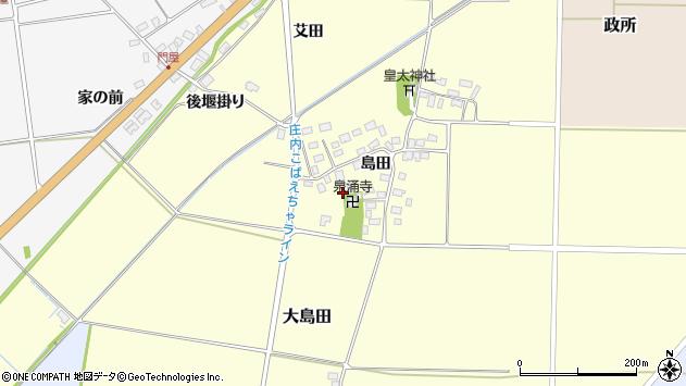 山形県酒田市大島田島田45周辺の地図