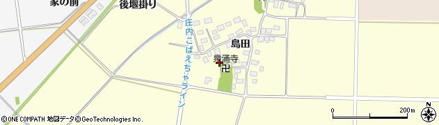 山形県酒田市大島田島田周辺の地図