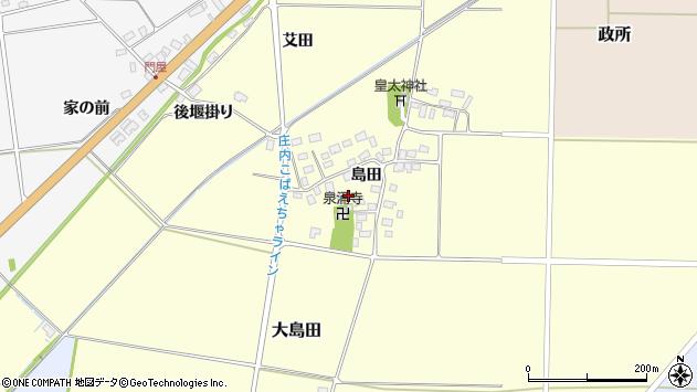 山形県酒田市大島田島田46周辺の地図