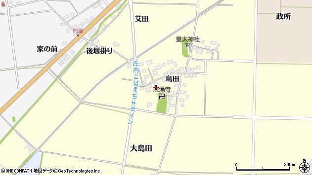 山形県酒田市大島田島田40周辺の地図