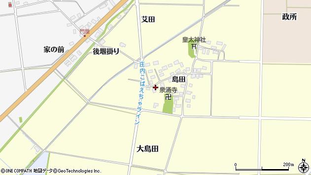 山形県酒田市大島田島田41周辺の地図