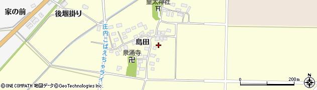 山形県酒田市大島田島田85周辺の地図