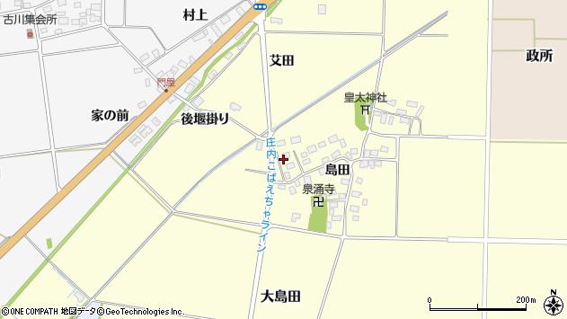 山形県酒田市大島田島田37周辺の地図