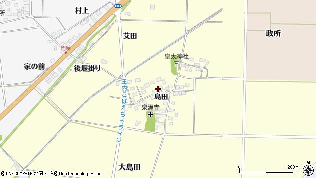 山形県酒田市大島田島田31周辺の地図