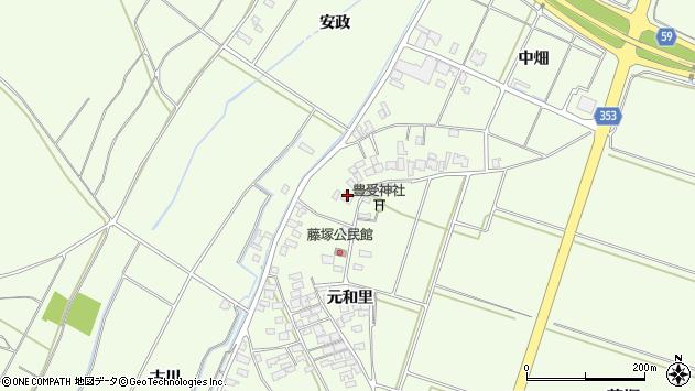 山形県酒田市藤塚元和里22周辺の地図