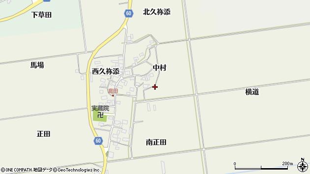 山形県酒田市庭田中村周辺の地図