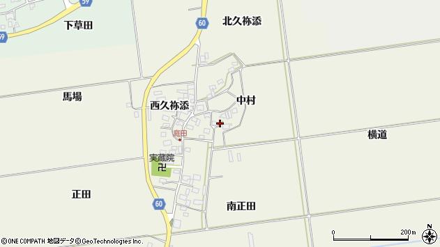 山形県酒田市庭田中村38周辺の地図