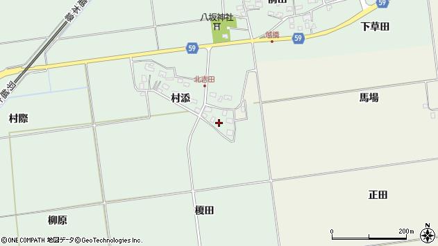 山形県酒田市保岡村添2周辺の地図