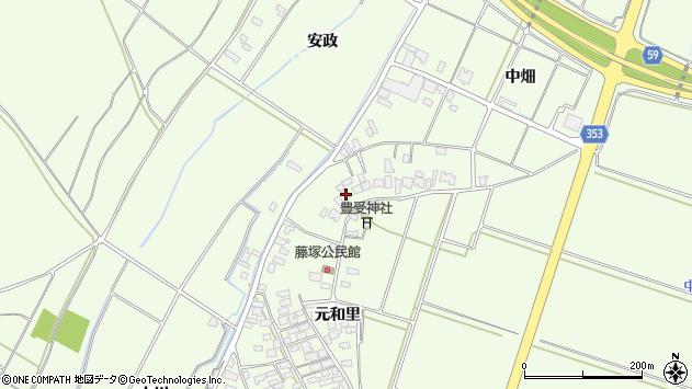 山形県酒田市藤塚元和里18周辺の地図
