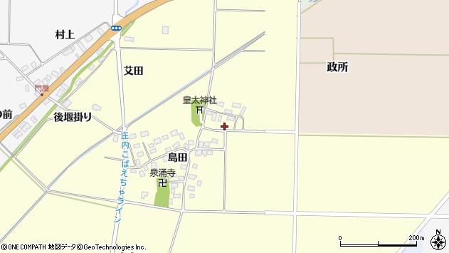 山形県酒田市大島田島田27周辺の地図