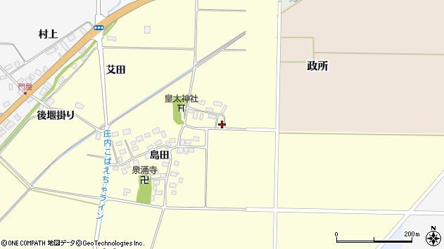 山形県酒田市大島田島田26周辺の地図