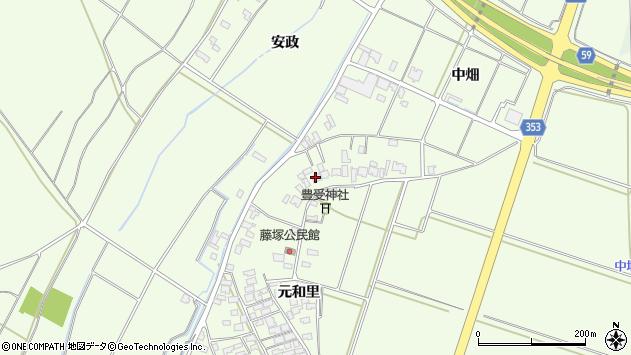 山形県酒田市藤塚元和里15周辺の地図