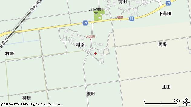 山形県酒田市保岡村添6周辺の地図