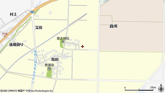 山形県酒田市大島田島田24周辺の地図