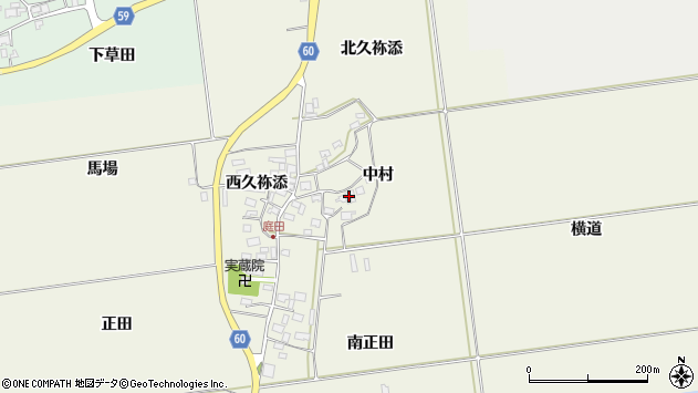 山形県酒田市庭田中村39周辺の地図