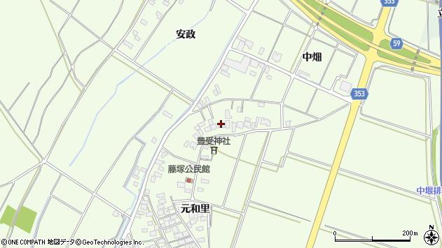 山形県酒田市藤塚元和里11周辺の地図