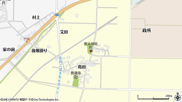 山形県酒田市大島田島田29周辺の地図