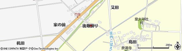 山形県酒田市大島田後堰掛周辺の地図