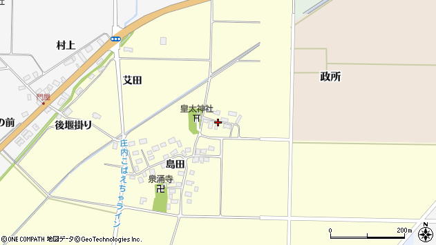 山形県酒田市大島田島田23周辺の地図