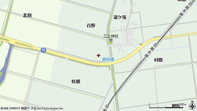 山形県酒田市保岡蛙橋周辺の地図
