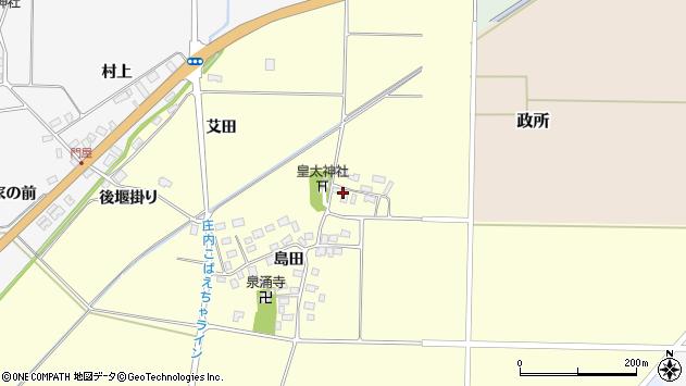 山形県酒田市大島田島田22周辺の地図