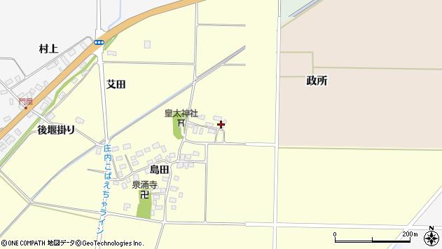 山形県酒田市大島田島田25周辺の地図