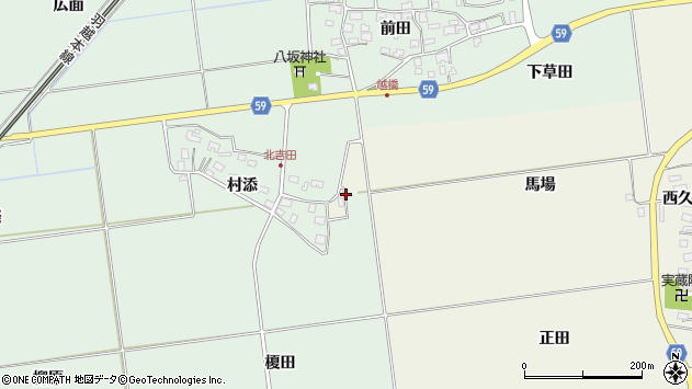 山形県酒田市庭田馬場81周辺の地図