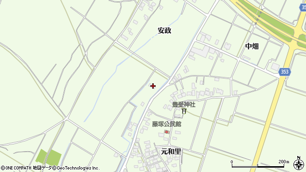 山形県酒田市宮海古川周辺の地図