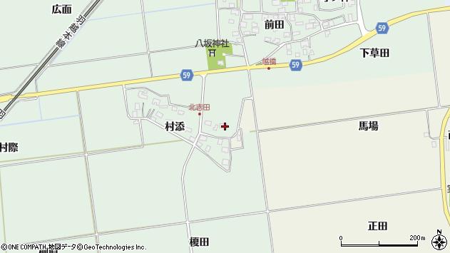 山形県酒田市保岡村添15周辺の地図