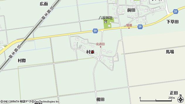 山形県酒田市保岡村添40周辺の地図