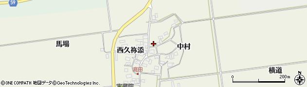 山形県酒田市庭田中村67周辺の地図