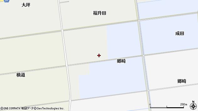 山形県酒田市城輪郷崎周辺の地図