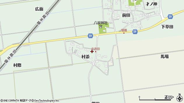 山形県酒田市保岡村添38周辺の地図