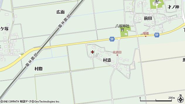山形県酒田市保岡村添51周辺の地図