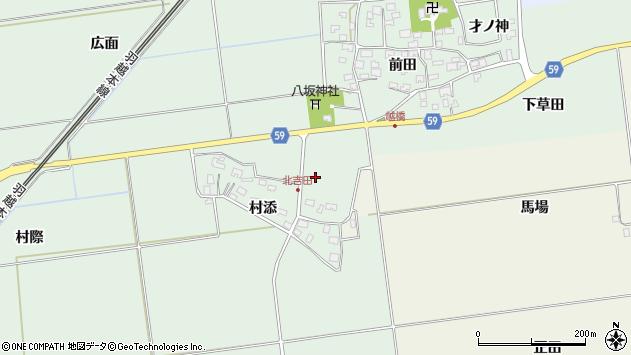 山形県酒田市保岡村添53周辺の地図