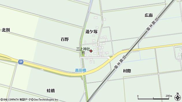 山形県酒田市保岡村際周辺の地図
