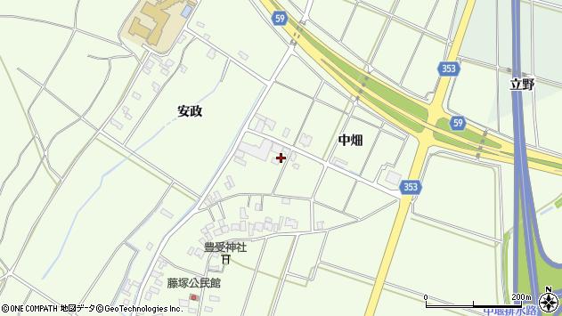 山形県酒田市藤塚中畑198周辺の地図