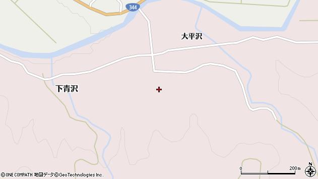 山形県酒田市下青沢湯平沢33周辺の地図