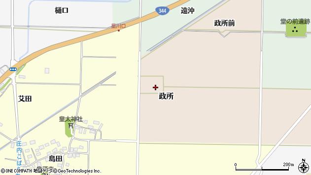 山形県酒田市政所セウシヨ31周辺の地図