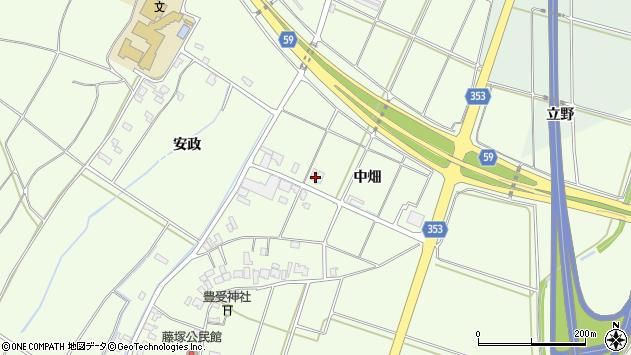 山形県酒田市藤塚中畑158周辺の地図