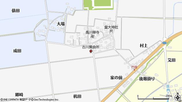 山形県酒田市刈穂机田周辺の地図
