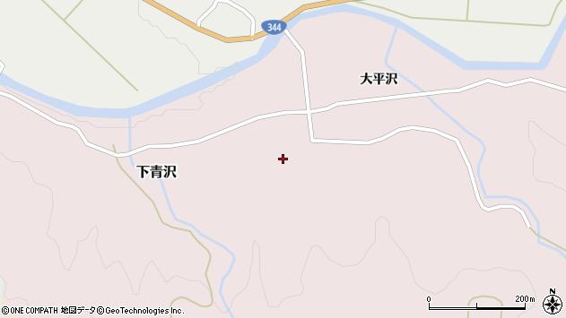 山形県酒田市下青沢湯平沢65周辺の地図