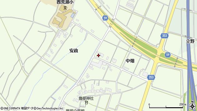 山形県酒田市藤塚中畑190周辺の地図