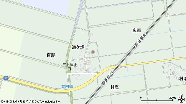 山形県酒田市保岡広面周辺の地図