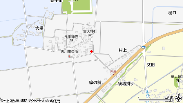 山形県酒田市刈穂古川53周辺の地図