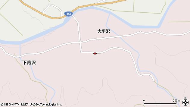 山形県酒田市下青沢湯平沢19周辺の地図