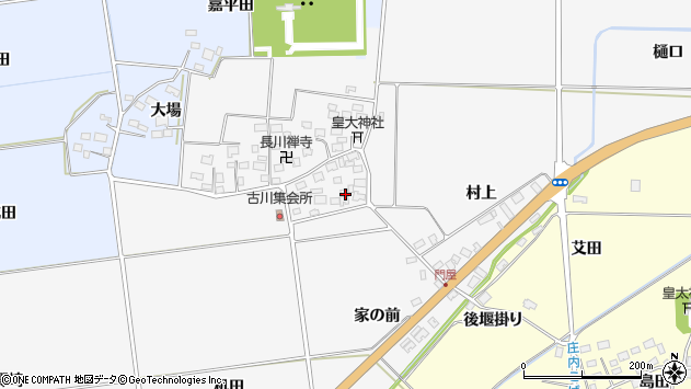 山形県酒田市刈穂古川54周辺の地図