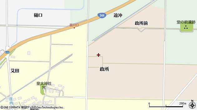山形県酒田市政所セウシヨ周辺の地図