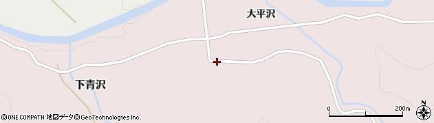 山形県酒田市下青沢湯平沢27周辺の地図