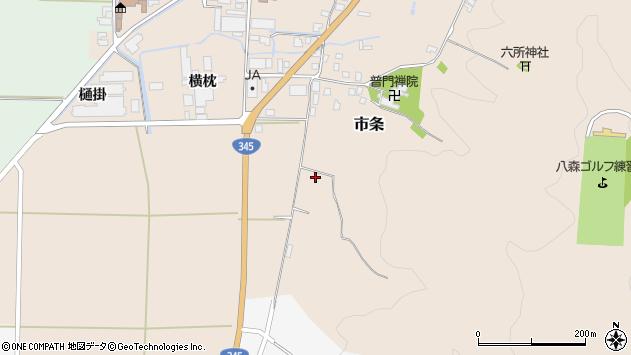 山形県酒田市市条甘蕨周辺の地図